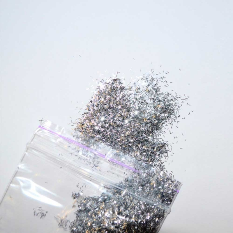 Блёстки серебро палочки 2